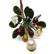 Vintage Small Nut and Berry Cluster Hat Trim